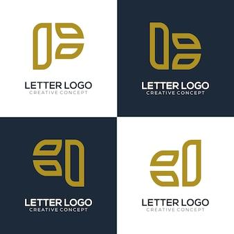 Lettre de logo de marque avec un concept créatif