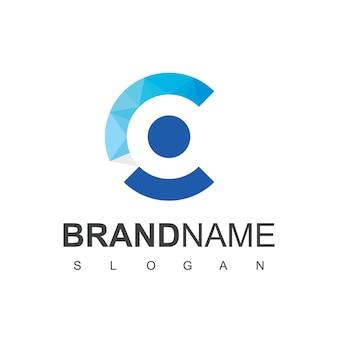 Lettre c, logo de personnes créatives