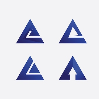 Une lettre et un logo de police un modèle icône vecteur illustration design