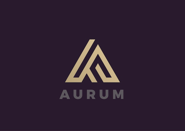 Lettre a. logo. style linéaire