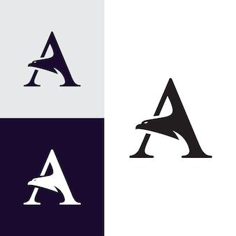 Une lettre avec le logo de la tête d'aigle
