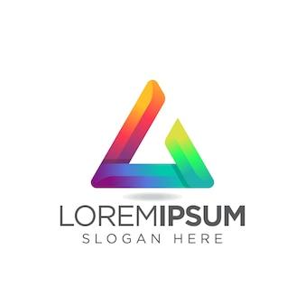 Lettre l logo triangle moderne