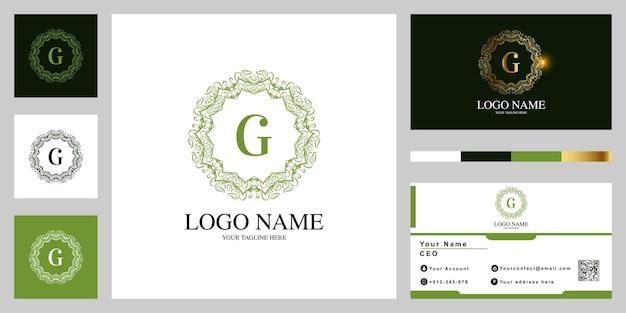 Lettre de luxe ornement fleur ou logo de cadre mandala