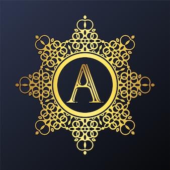 Lettre de luxe ornementale un logo