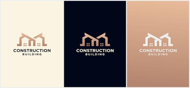 Lettre m home creative, initiales de conception de logo m house, real estate icon.letter m home logo template