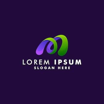 Lettre m logo design vecteur de style moderne