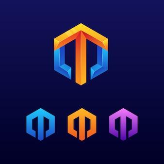 Lettre m logo flèche
