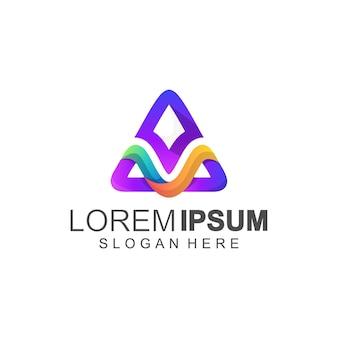 Lettre m et un logo