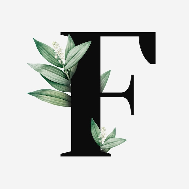 Lettre majuscule botanique f