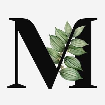 Lettre majuscule botanique m