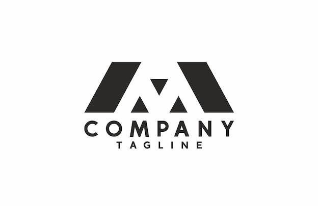 Lettre minimale aa ou m house logo