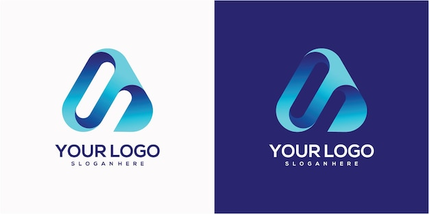 Lettre minimaliste simple un logo