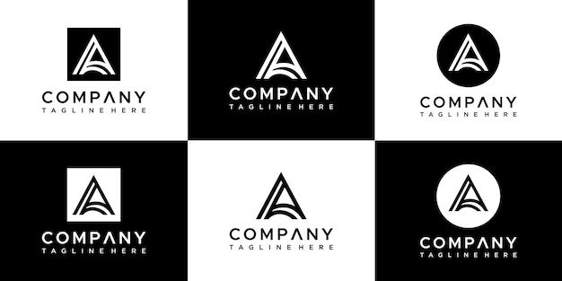 Lettre un modèle de conception de logo