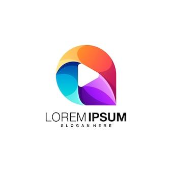 Lettre Un Modèle De Logo Dégradé De Jeu Vecteur Premium