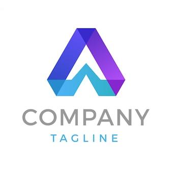 Lettre moderne abstraite a logo
