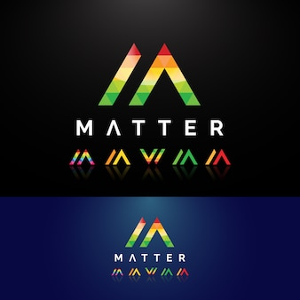 Lettre mw modern logo