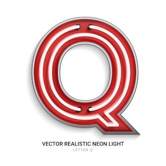 Lettre néon q