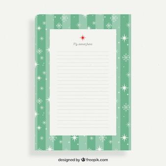 Lettre de noël à un ami dans un cadre vert