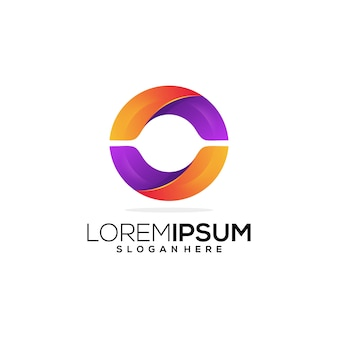 Lettre o geometrick logo