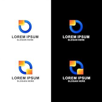 Lettre o logo abstrait