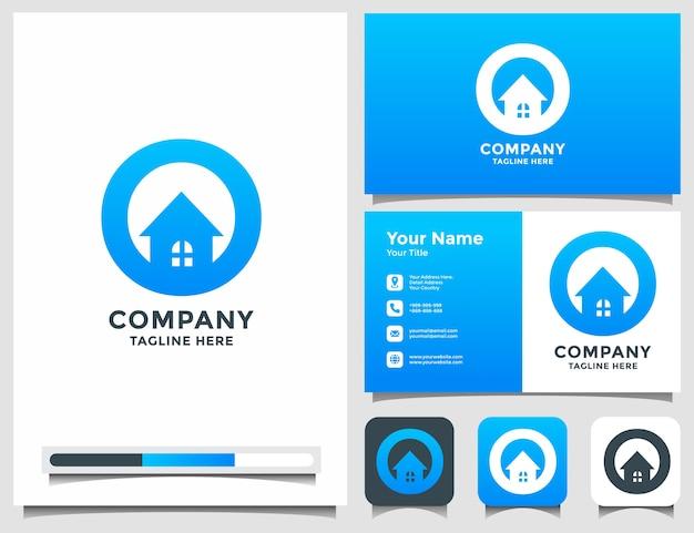 Lettre o logo maison avec carte de visite