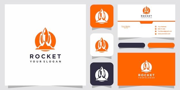 Lettre o avec modèle de logo de fusée abstraite de luxe