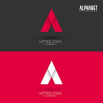 Une lettre origami style logo