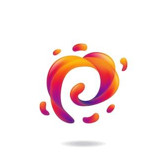 Lettre p liquid logo
