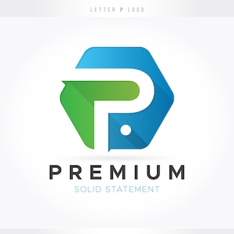Lettre p logo