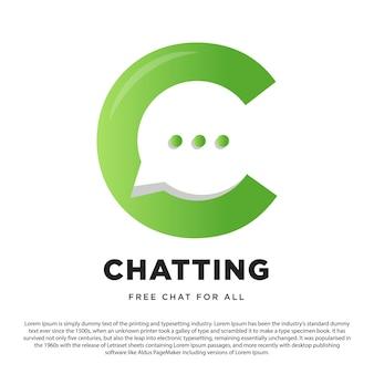 Lettre c pour la création de logo de discussion logo de discussion pour votre site web ou application et autres