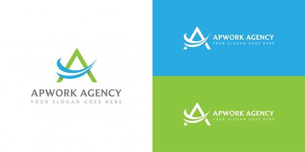 Lettre a pour le logo de l'entreprise d'agence de voyages