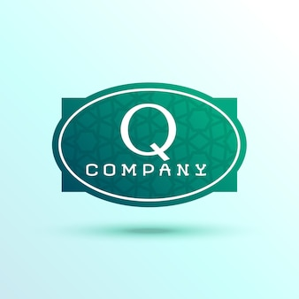 Lettre q étiquette logo design pour votre marque
