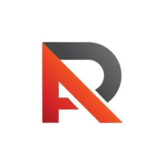 Lettre a + r logo vector, a + p logo vector