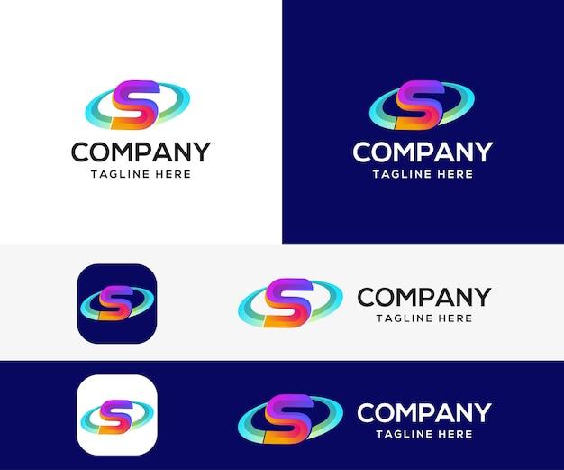 Lettre s 3d création de logo coloré