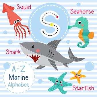 Lettre s alphabet de la mer