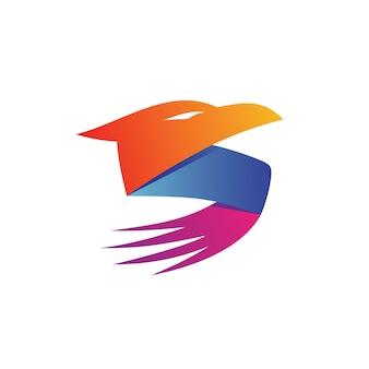 Lettre s eagle logo vecteur