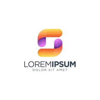 Lettre s logo coloré
