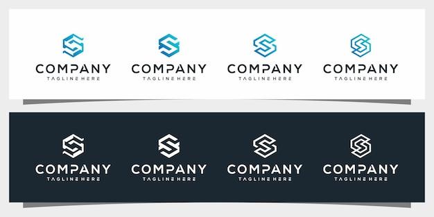 Lettre s logo design simple vecteur élégant vecteur premium