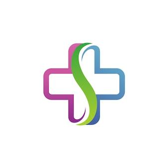 Lettre s medical logo vector
