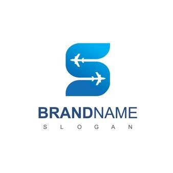 Lettre s tour et logo de voyage