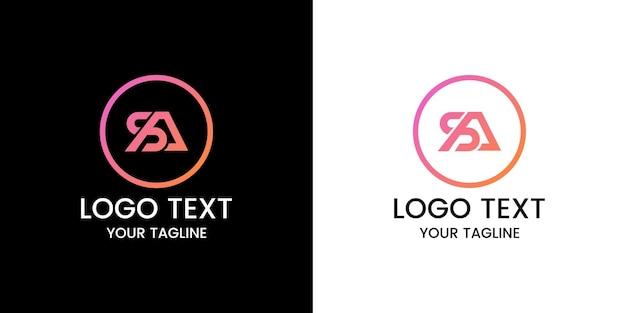 Lettre sa vecteur de conception de logo