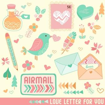 Lettre de saint valentin et articles
