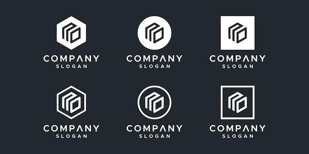 Lettre sans vecteur de conception de logo