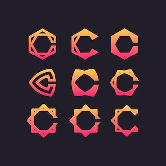 Lettre c set logo