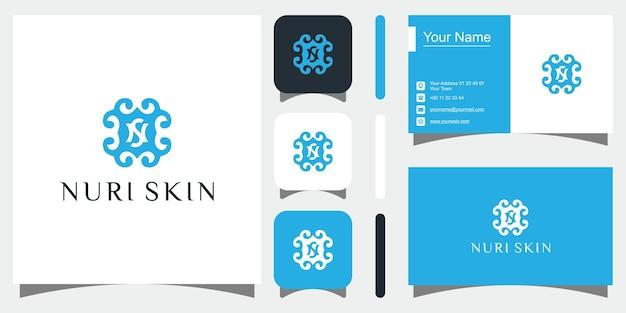 Lettre sn sn ns logo design simple vecteur élégant vecteur premium