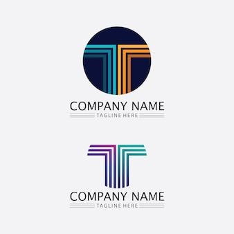 Lettre t, conception de l'alphabet des polices vectorielles du logo t et icône t