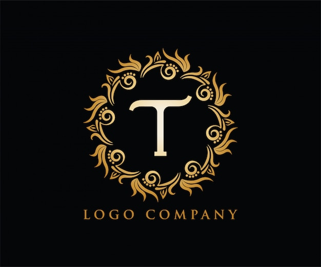 Lettre t initiale logo