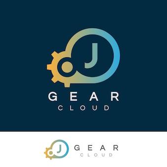 Lettre de technologie initiale de la lettre de nuage j création de logo