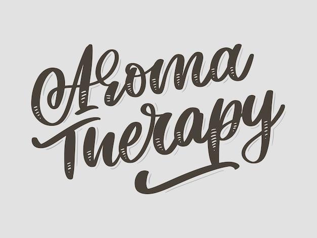 Lettre de thérapie d'arôme pour la conception de style de vie de luxe. médecine douce. concept de mode de vie sain. signe organique.