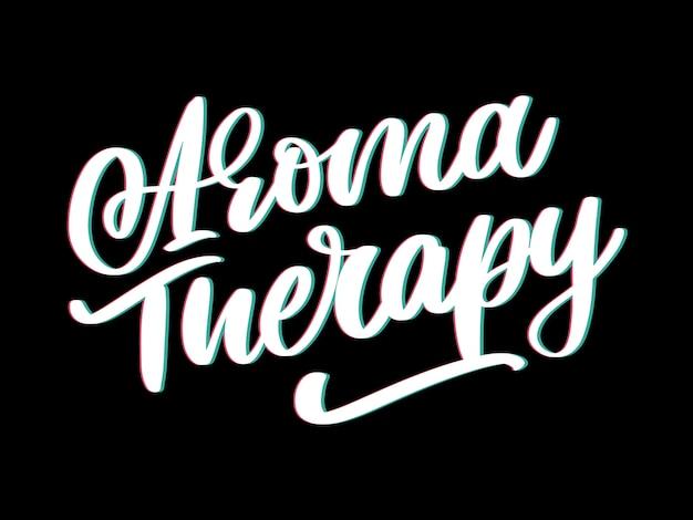 Lettre de thérapie d'arôme pour le style de vie de luxe. médecine douce. concept de mode de vie sain. signe organique.